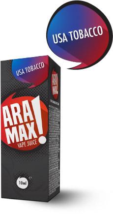 USA Tobacco - Aramax liquid - 10ml Kategorie: Tabákové, Příchuť: USA Tobacco, Množství: 10ml, Množství nikotinu: 00mg