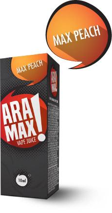 Broskev / Max Peach - Aramax liquid - 10ml Kategorie: Ovocné, Příchuť: Peach, Množství: 10ml, Množství nikotinu: 06mg