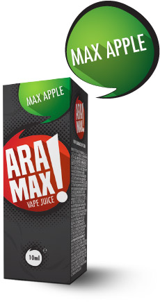 Jablko / Max Apple - Aramax liquid - 10ml Kategorie: Ovocné, Příchuť: Apple, Množství: 10ml, Množství nikotinu: 06mg
