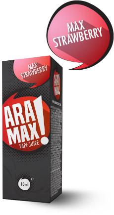 Jahoda / Max Strawberry - Aramax liquid - 10ml Kategorie: Ovocné, Příchuť: Strawberry, Množství: 10ml, Množství nikotinu: 06mg