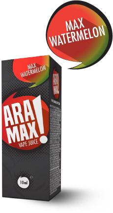 Vodní meloun / Max Watermelon - Aramax liquid - 10ml Kategorie: Ovocné, Příchuť: Watermelon, Množství: 10ml, Množství nikotinu: 12mg