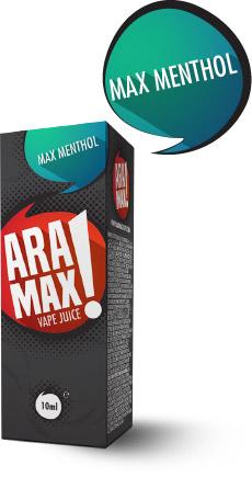 Mentol / Max Menthol - Aramax liquid - 10ml Kategorie: Ostatní, Příchuť: Menthol, Množství: 10ml, Množství nikotinu: 12mg