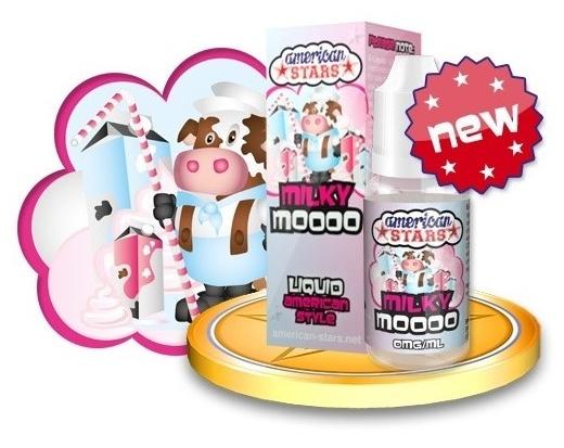 Flavourtec E-liquid American Stars 10ml - Milky Moooo Kategorie: Ostatní, Příchuť: Ostatní - Milky Moooo, Množství: 10ml, Množství nikotinu: 00mg