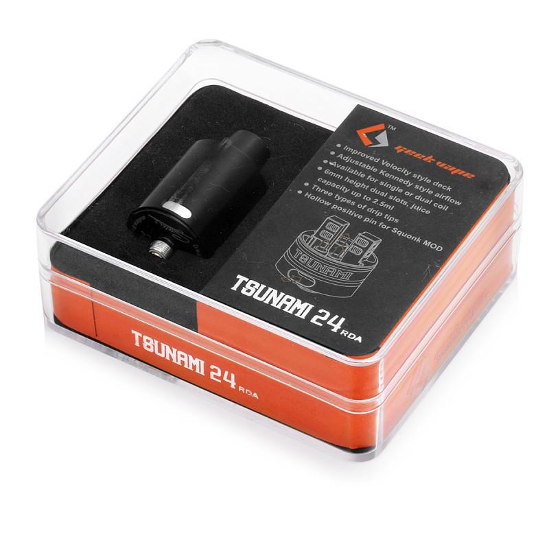 GeekVape Tsunami 24 RDA Atomizer Barva: Černá