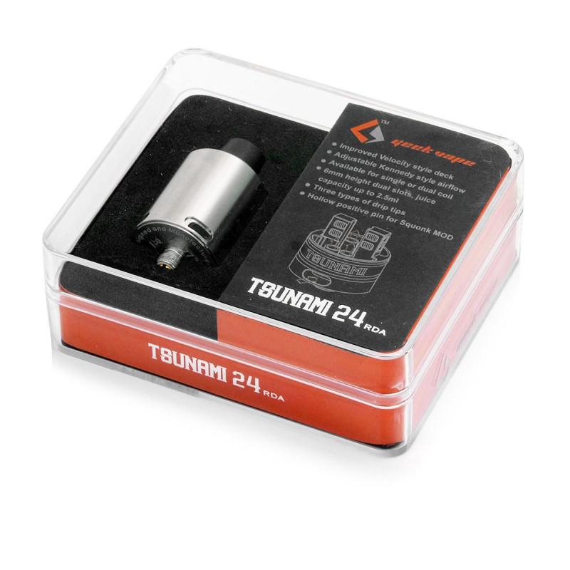 GeekVape Tsunami 24 RDA Atomizer Barva: Stříbrná