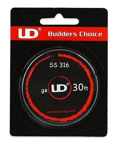 Youde Technology UD Drát Nerez SS316L / 30FT Kategorie: Dráty, Materiál: NEREZ AISI 316L, Délka: 10m, Průměr: 0,51mm