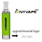 EVOD BCC Anyvape Clearomizer Barva: Zelená, Odpor: 2,2ohm, Objem: 1,6ml, Náustek: Bílý, Tip: eGo, Plnění: Spodní