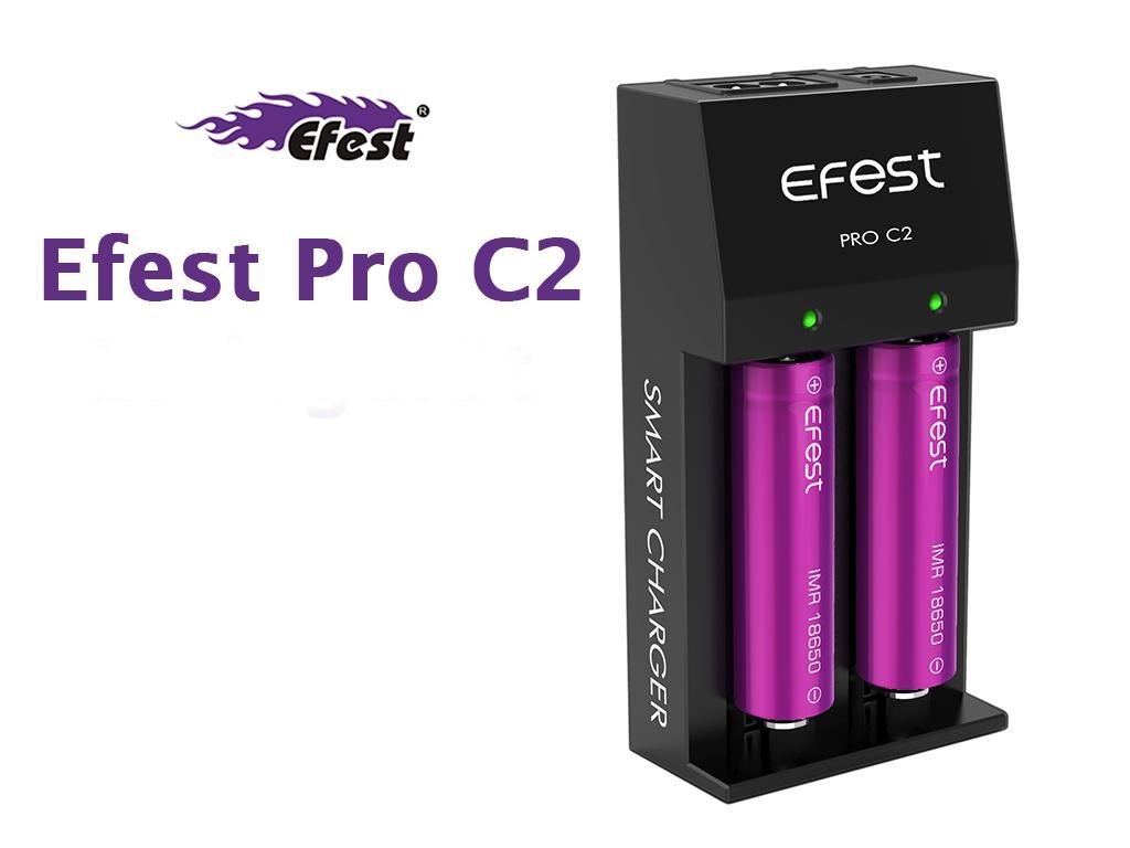 Efest Pro C2 nabíječka - 2 sloty Barva: Černá