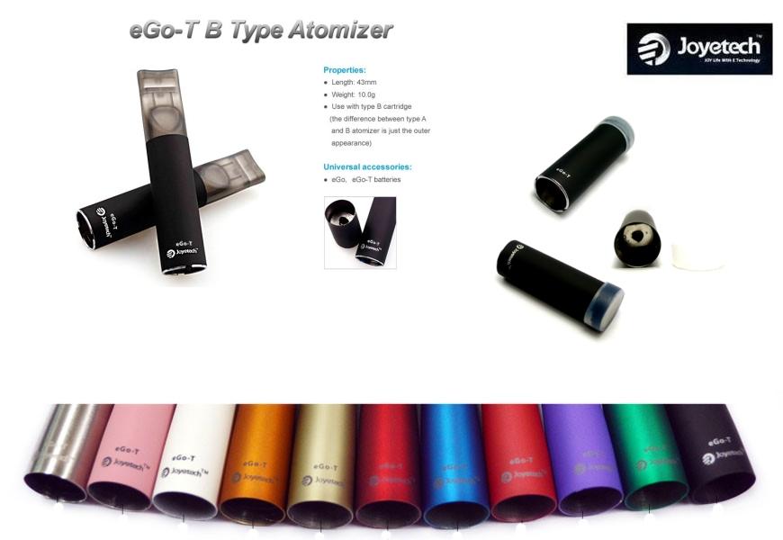 Joyetech Atomizér pro model Joye eGo-T (Tank) B Barva: Černá, Odpor: 2,2ohm, Tip: B