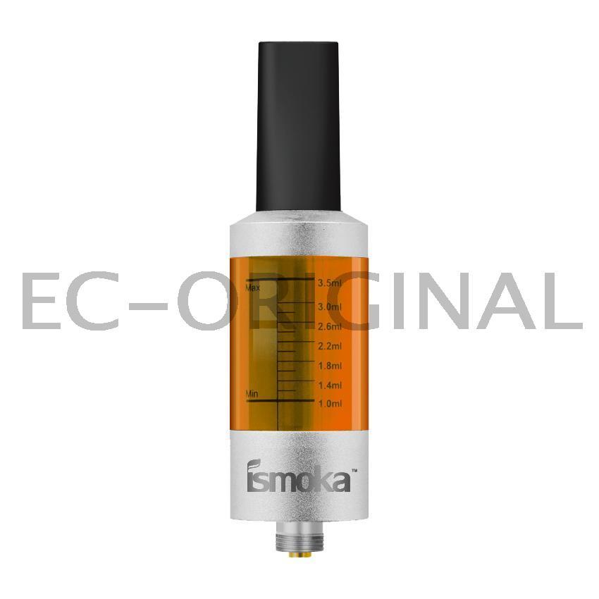 iSmoka / eLeaf BCC Mega Clearomizer ismoka 3,5ml stříbrná Barva: Žlutá, Odpor: 2,2ohm, Objem: 3,5ml, Náustek: Černý, Tip: 510, Plnění: Spodní, Barva základny: Stříbrná