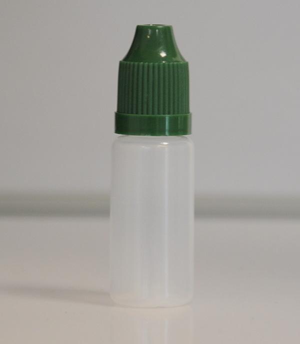 Tobeco Prázdná lahvička komplet 10ml PE (víčko ultra tmavá zelená)