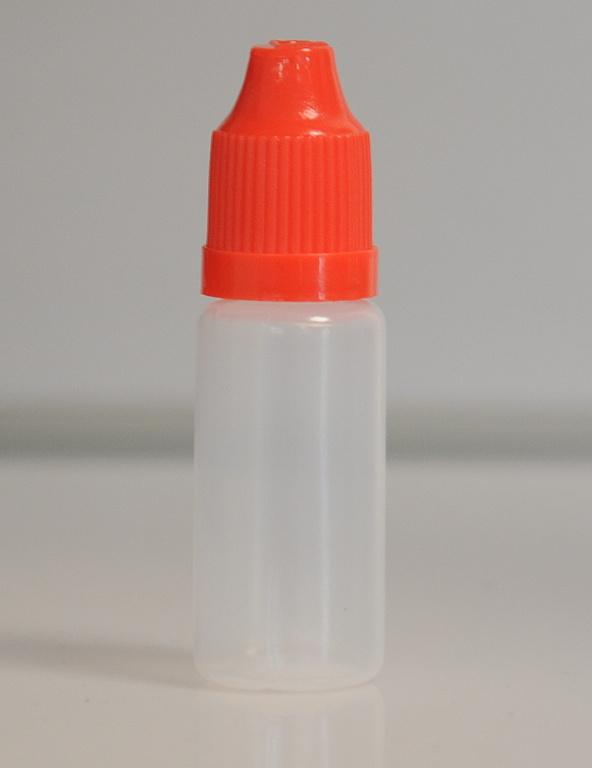 Tobeco Prázdná lahvička komplet 10ml PE (víčko červené)