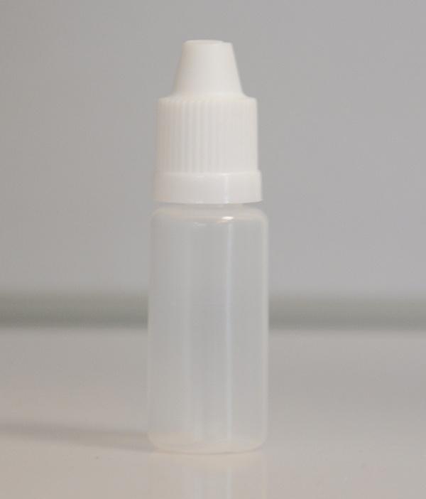 Tobeco Prázdná lahvička komplet 10ml PE (víčko bílé)