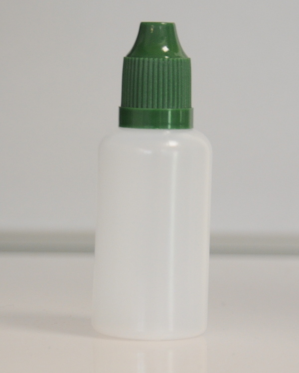 Tobeco Prázdná lahvička komplet 30ml PE (víčko ultra tmavá zelená)