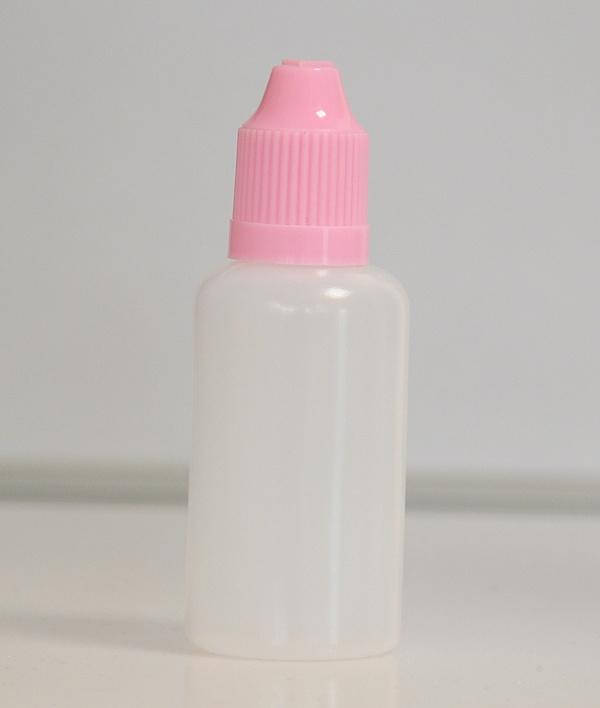 Tobeco Prázdná lahvička komplet 30ml PE (víčko Růžová světlá)
