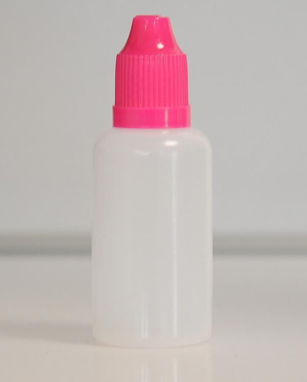 Tobeco Prázdná lahvička komplet 30ml PE (víčko Růžové)