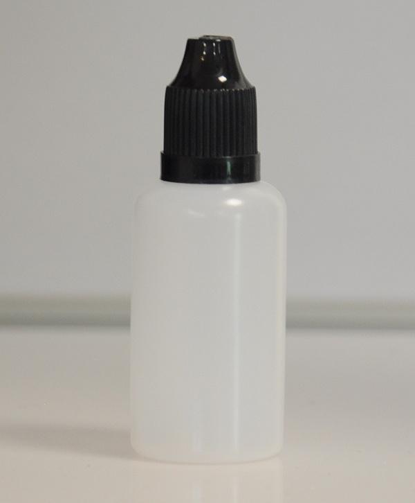 Tobeco Prázdná lahvička komplet 30ml PE (víčko Černé)