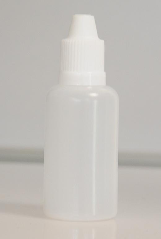 Tobeco Prázdná lahvička komplet 30ml PE (víčko Bílé)