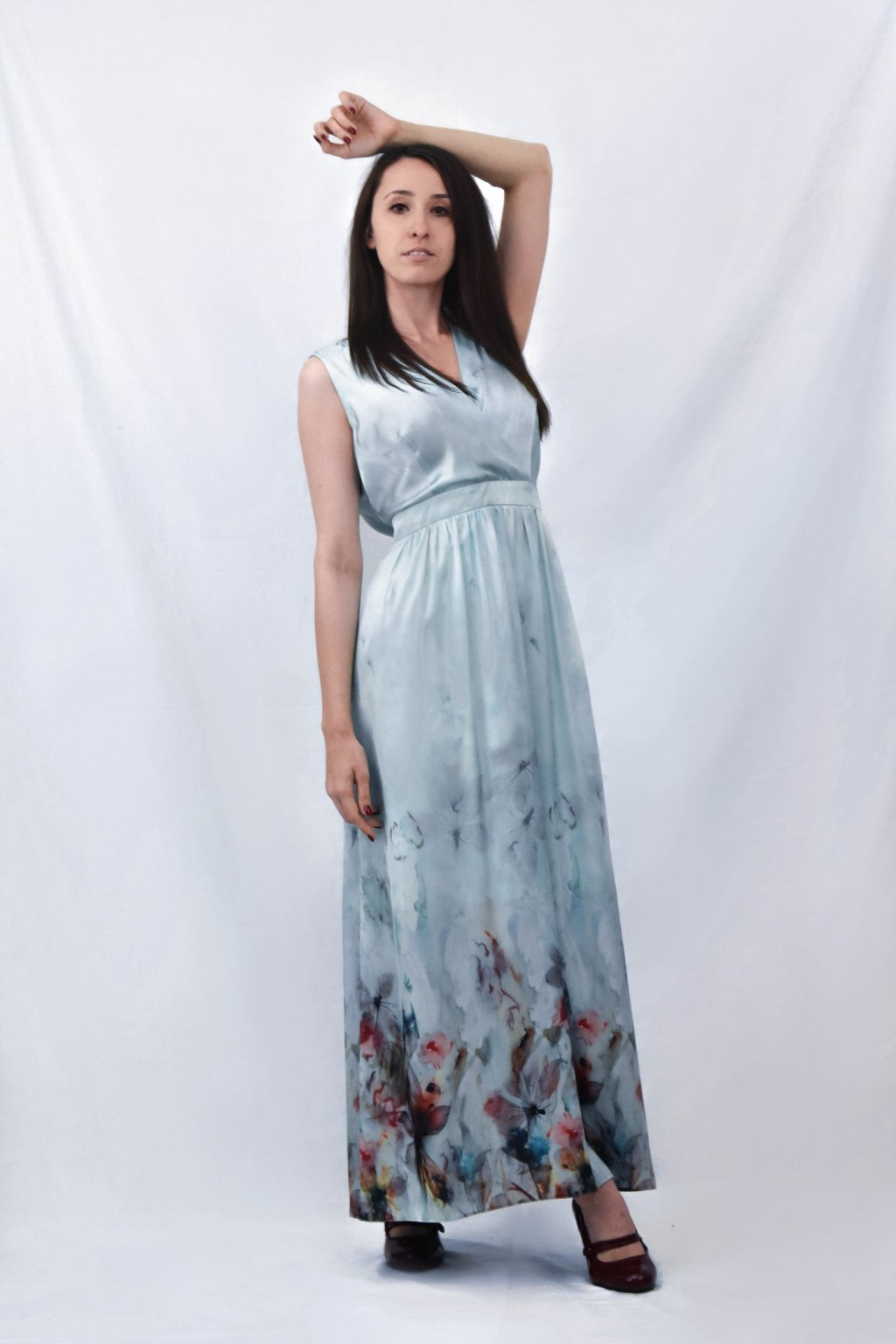 dlouhé modré předek