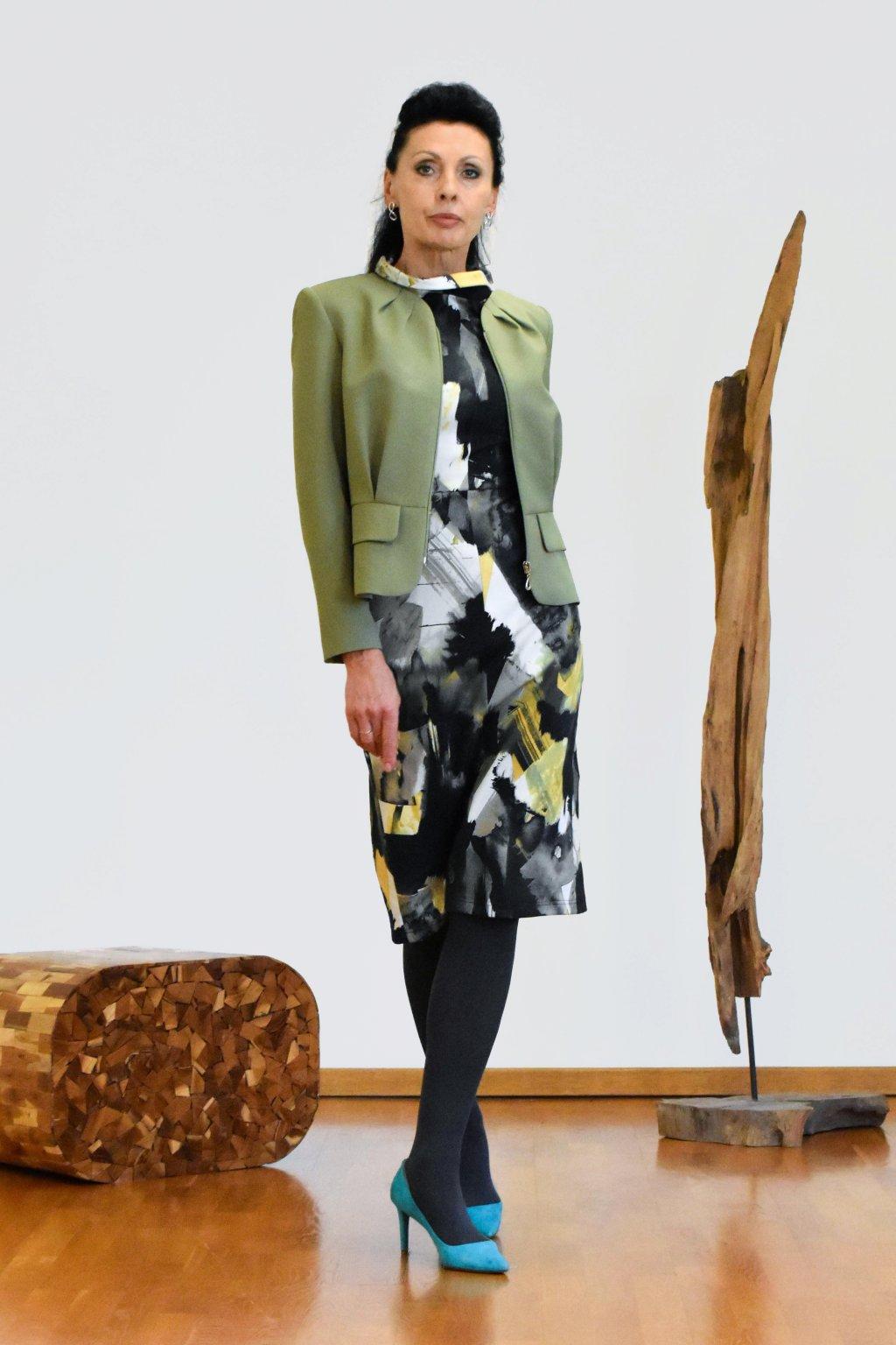 Marlen - zelené sako podšívkované