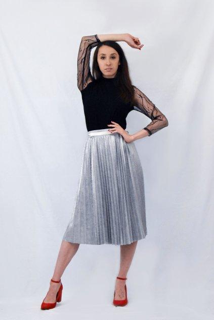 stříbrná sukně předek