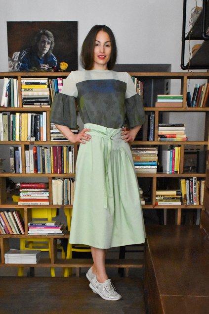 zelená sukně Marki