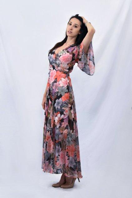 květované šaty bok
