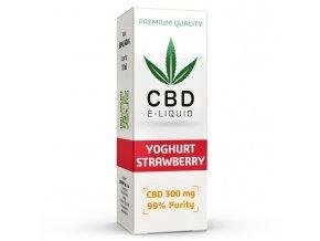 CBD Vape Liquid - 10ml - 300mg - 3% - Jahodový jogurt