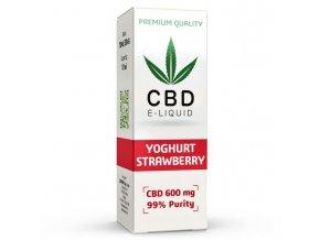 CBD Vape Liquid - 10ml - 600mg - 6% - Strawberry Yoghurt