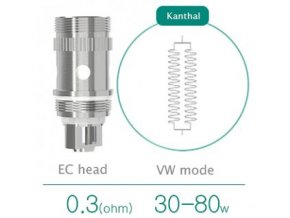 iSmoka Eleaf EC kanthal žhavící hlava 0,3ohm