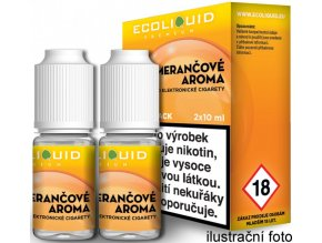 Liquid Ecoliquid Premium 2Pack Orange 2x10ml - 3mg (Pomeranč)