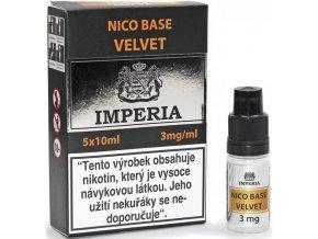 nikotinova baze cz imperia velvet 5x10ml pg20vg80 3mg