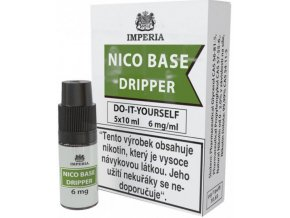 nikotinova baze cz imperia dripper 5x10ml pg30vg70 6mg