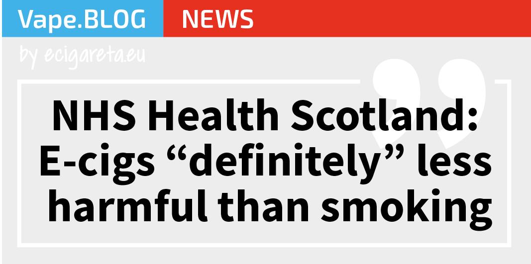 """NHS Health Scotland: E-cigarety jsou """"rozhodně"""" méně škodlivé než kouření"""