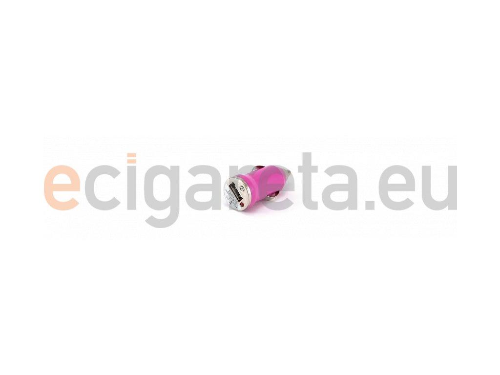 Autonabíječka pro elektronické cigarety 12V mini sv. růžová