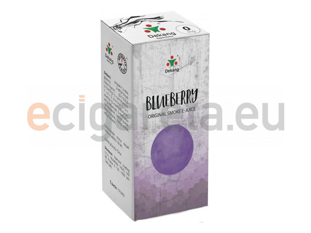 dekang blueberry 10ml 0mg boruvka