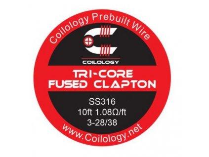 Coilology Tri-Core Fused Clapton odporový drát SS316 28/38