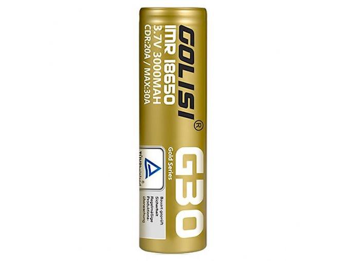 Baterie Golisi G30 IMR 18650 3000mAh 20A 3,7V
