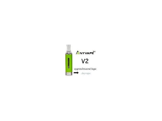 4412 anyvape evod bcc v2 clearomizer 2 1ohm 1 6ml green