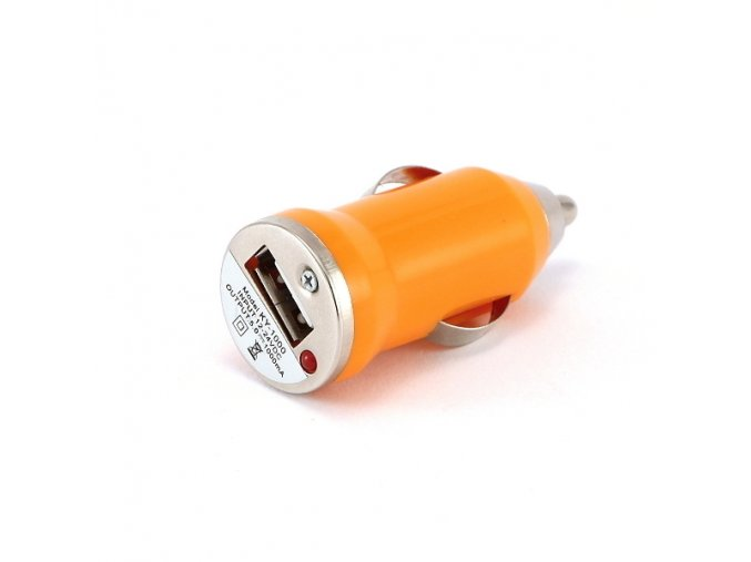 autonabijecka pro elektronicke cigarety 12v mini oranzova
