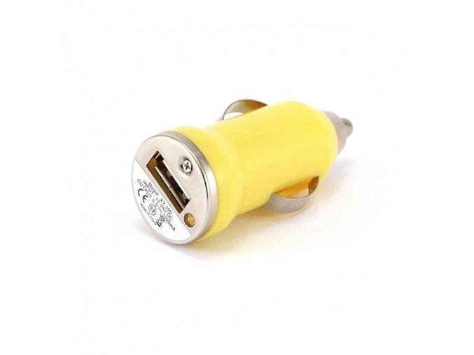 autonabijecka pro elektronicke cigarety 12v mini zluta