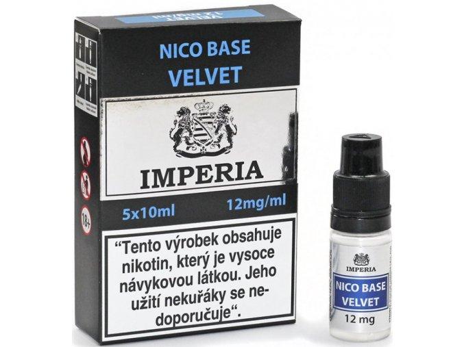 nikotinova baze cz imperia velvet 5x10ml pg20vg80 12mg