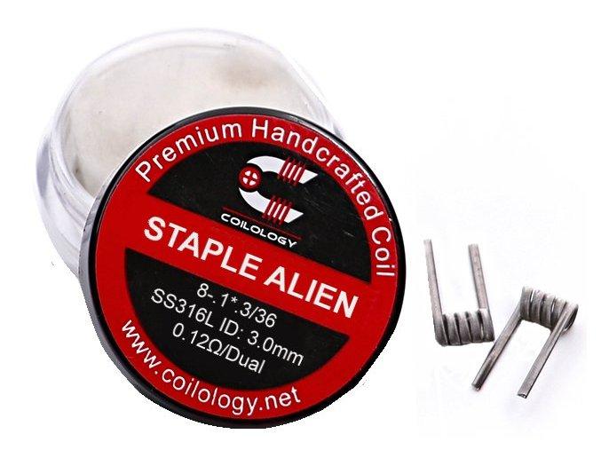 47828 coilology staple alien predmotane spiralky ss316 0 12ohm