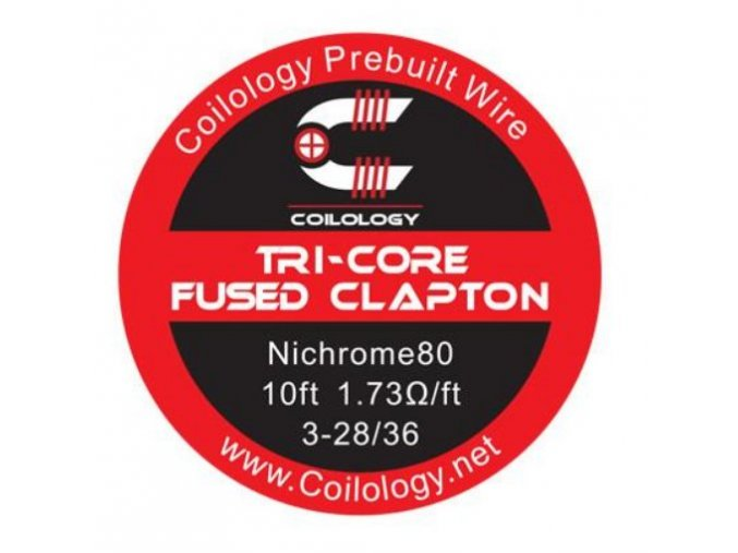 47864 coilology tri core fused clapton odporovy drat ni80 28 36