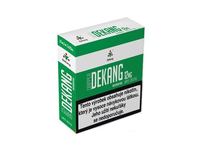 nikotinova baze dekang dripper 5x10ml pg30vg70 12mg