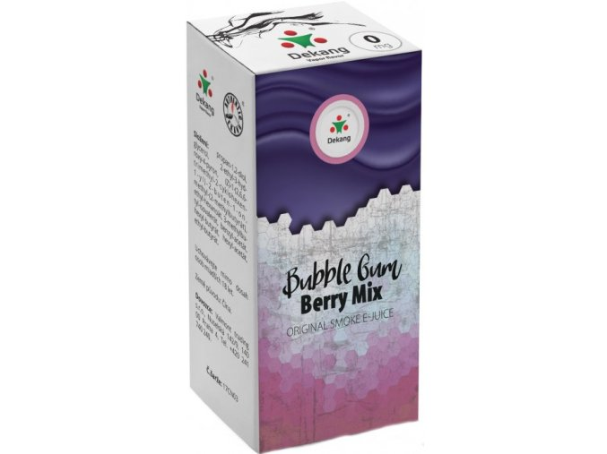 12849 dekang bubble gum berry mix 10ml 0mg zvykacka lesni plody
