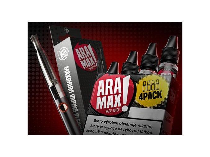 ARAMAX Výhodná Sada 4Pack Strawberry 6mg + cigareta Aramax Vaping Pen