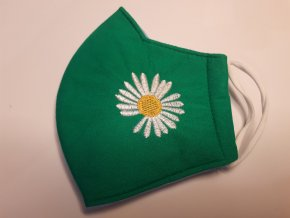 Antibakteriální textilní rouška zelená 2