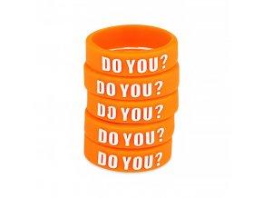 Dekorativní silikonový kroužek - 23mm - Oranžová