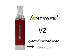 4424 anyvape evod bcc v2 clearomizer 2 1ohm 1 6ml red